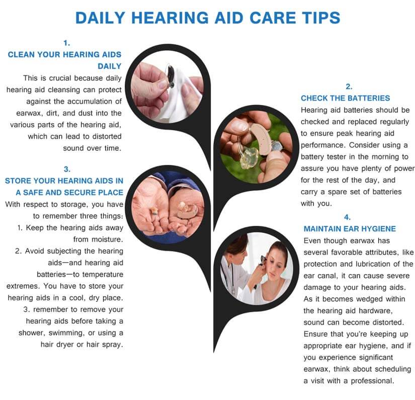 daily hearing aid care tips