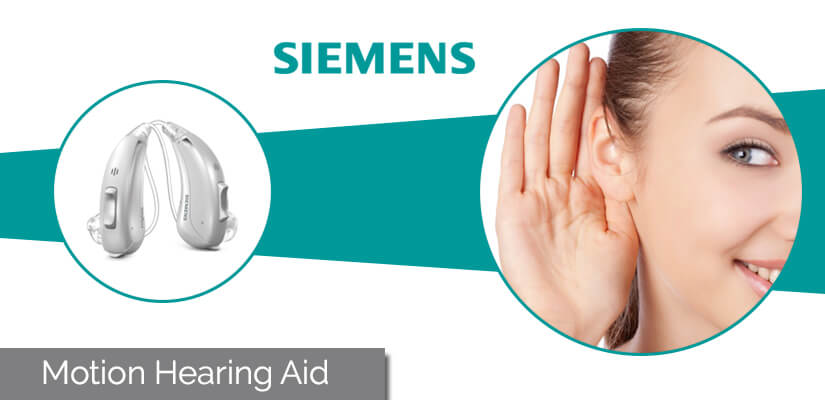 Siemens motion hearing aid specifications and  motion bte