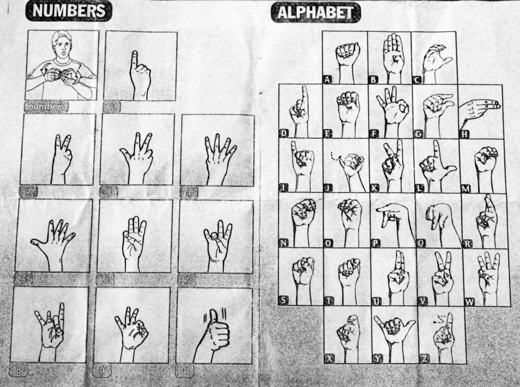 Deaf culture - alphabets & number