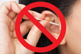 not to clean earwax through earbuds or Cotton Swab