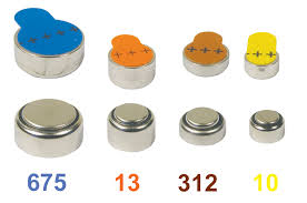 Zinc Air hearing aid batteries