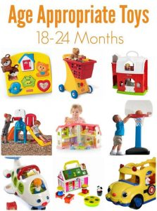 Age appropiate toys for toddlers
