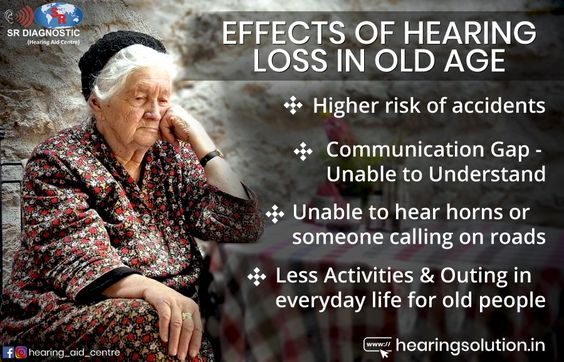 Effect of hearing loss in old age