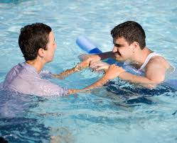 Swimming therapy for autistic children