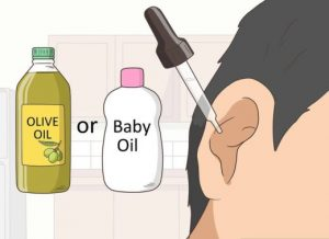 mineral oil to unclog ears