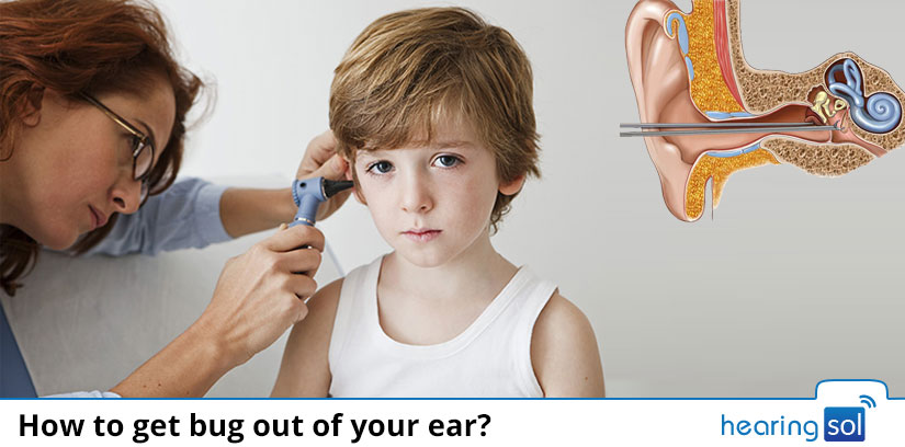 How to get bug out of your ear?
